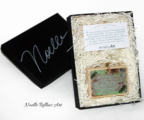 deluxe boxed dragonfly ornament
