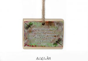 Dragonfly memorial Christmas ornament from Noelle Rollins Art
