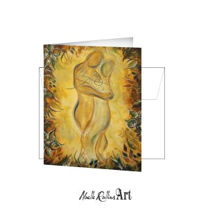 card of couple intertwined