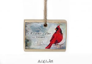 A fathers love is forever Christmas ornament