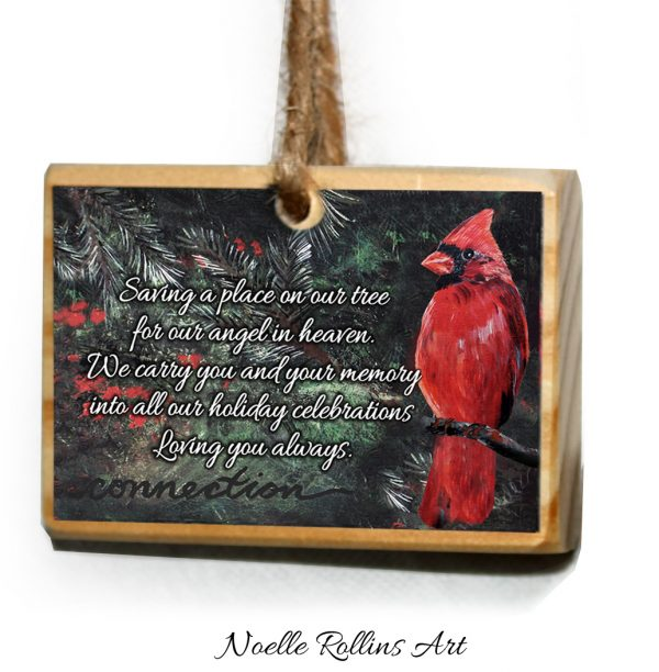 cardinal remembrance artisan ornament