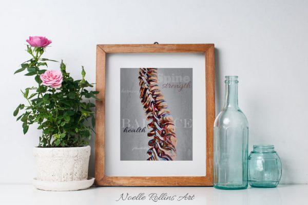 spine anatomy artwork by Noelle Rollins Art