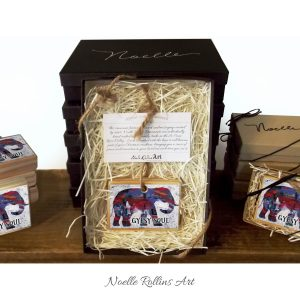 Gypsy soul elephant artisan Christmas ornaments