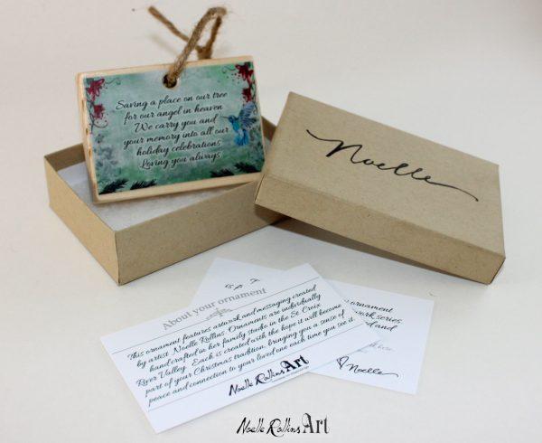 gift set for Christmas hummingbird memorial ornament