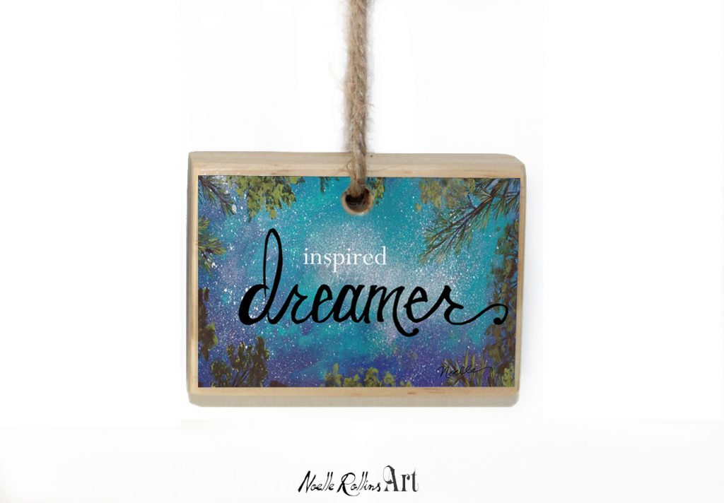 inspired dreamer ornament collection from Noelle Rollins Art