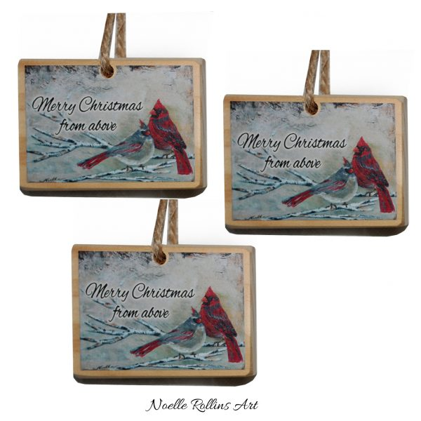 set of 3 remembrance ornaments