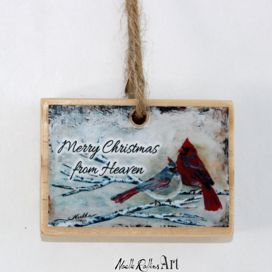 christmas ornament to honor mom or dad or parents in heaven