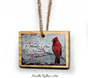 mothers love memorial ornament with cardinal