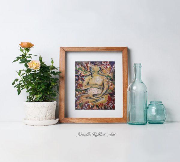 pregnant woman doula wall art