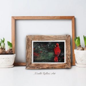 small cardinal wall art