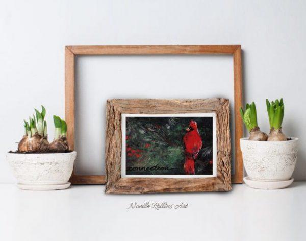 small cardinal wall art