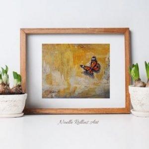 bold monarch butterfly by Noelle Rollins Art