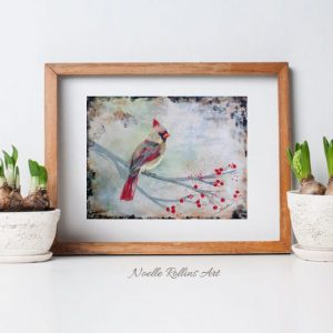female cardinal print