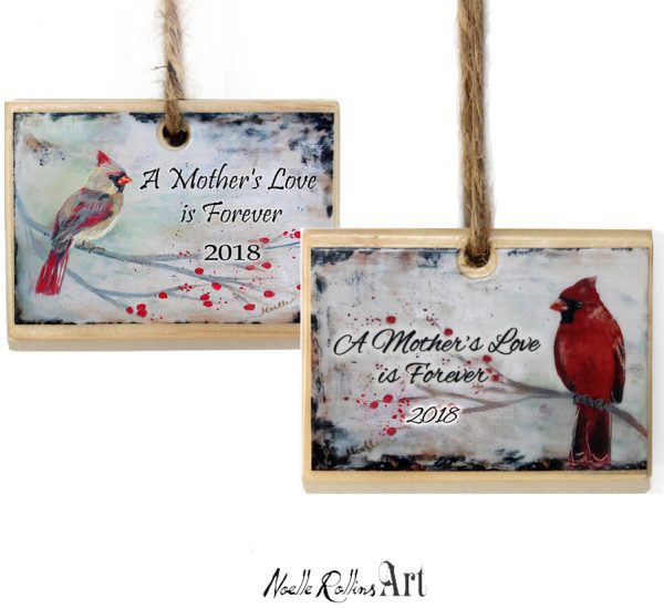 Mothers love ornament pair to remember a mom who has passed in 2018