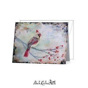female cardinal notecard