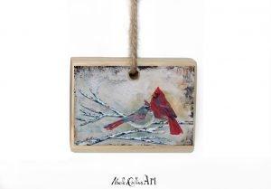 Partners cardinal couple ornament