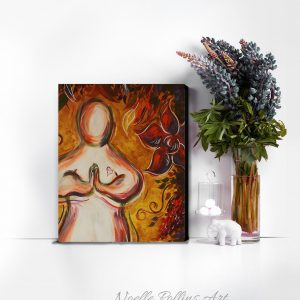 prayer pose praying artwork canvas print
