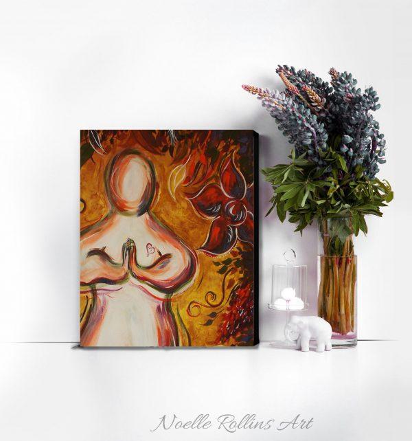prayer pose praying artwork canvas print