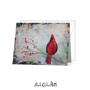 red cardinal remembrance card