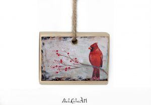 cardinal protector ornament