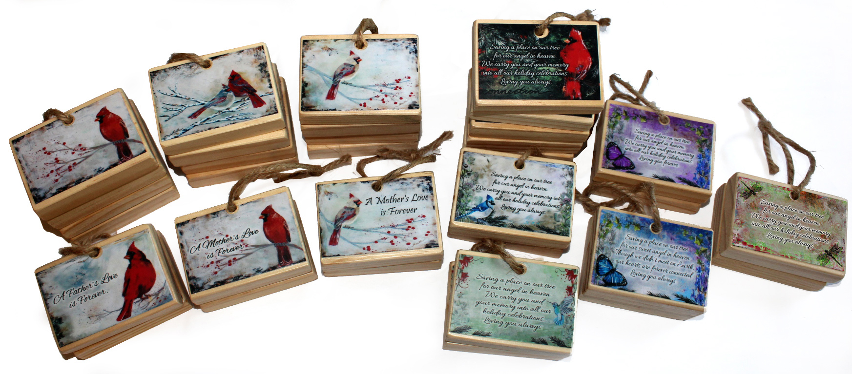 Hummingbird remembrance Christmas ornament memorial gift