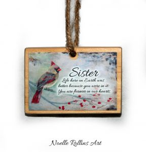 sister remembrance ornamnent