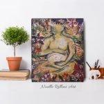 Sacred Garden of pregnancy artwork by Noelle Rollins Art