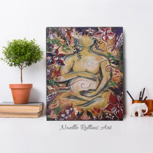 Sacred Garden of pregnancy artwork by Noelle Rollins Art
