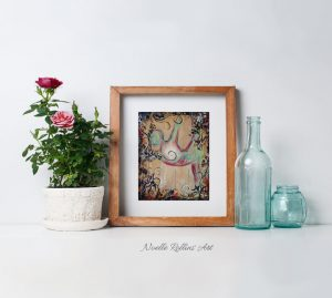 standing bow matted print