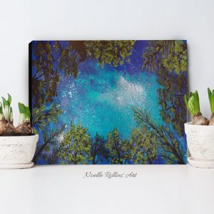 nature inspired night sky art print