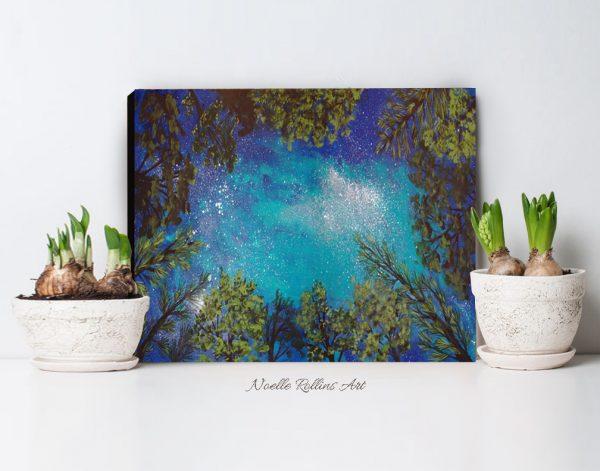 nature inspired night sky art print