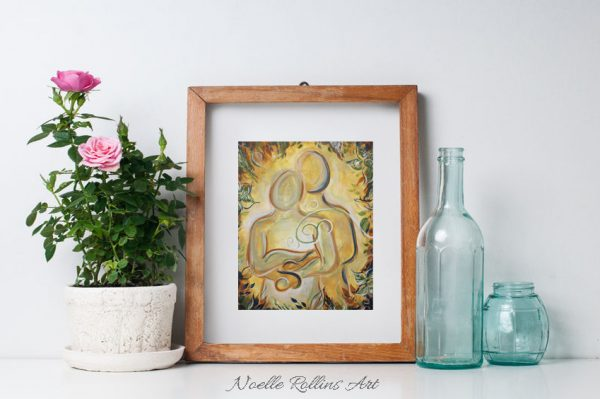 couple romantic wall art print