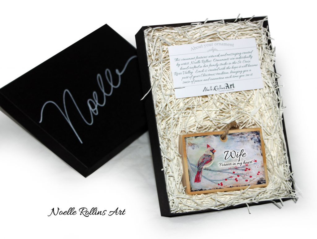 wife remembrance ornament boxed gift