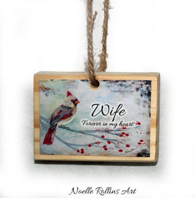 Wife remembrance artisan Christmas ornament ...
