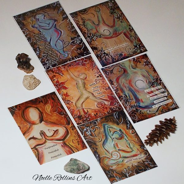 soulful yoga print set from Noelle Rollins Art