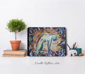 camel pose wall art canvas print