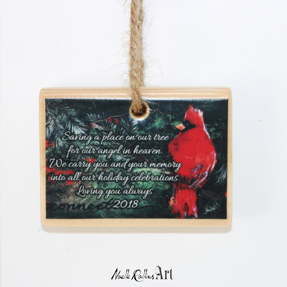 2018 ornament to honor the life of someone who passed away in 2018