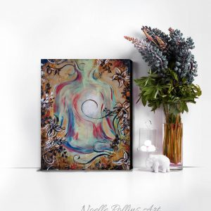 lotus pose wall art print soulful yoga collection