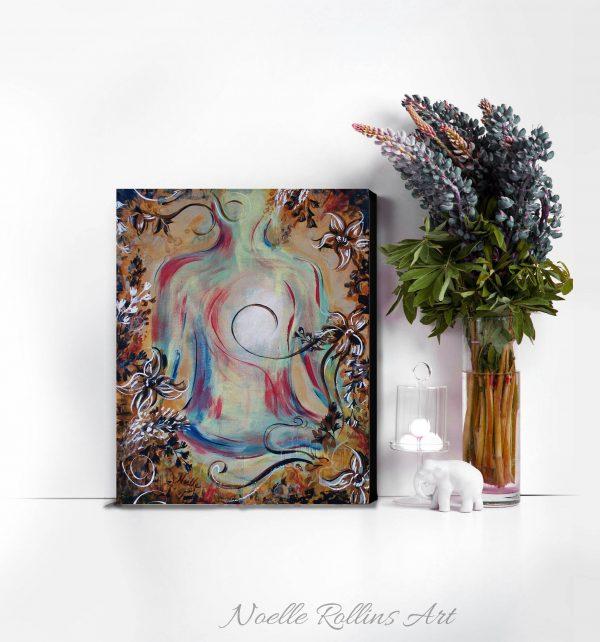 lotus pose wall art print soulful yoga collection
