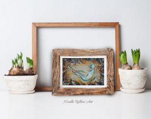 boat small matted print