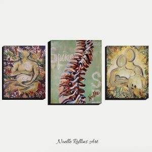 pregnancy spine and family canvas wall art