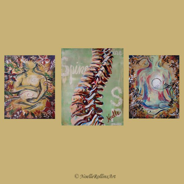 pregnancy spine and lotus pose wall art