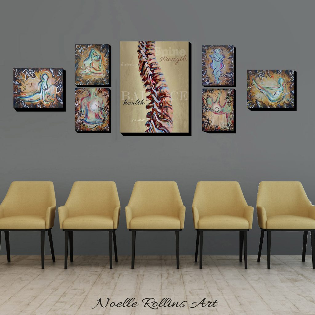 spine and yoga wall art