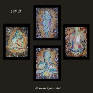 set of 4 yoga wall art prints