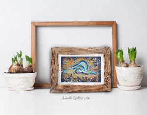 matted small print for gift or decor