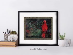 cardinal connection matted print