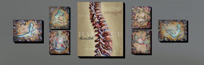 chiropractic artwork yoga