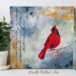 cardinal artwork to honor a loved one passed