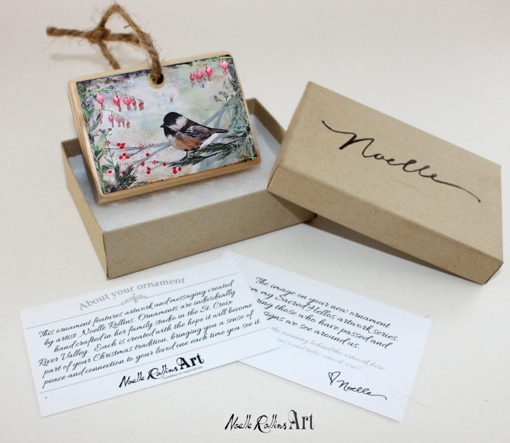 chickadee ornament boxed