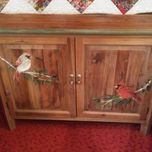 cardinal decorative painting